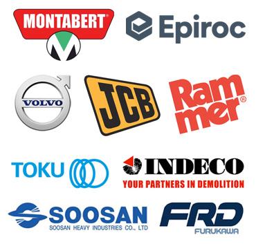 Rockbreakers Montabery Epiroc Volvo JCB Rammer Toku Indeco